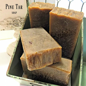 Handmade Pine Tar soap with essential oils