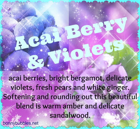 acai berry and violets