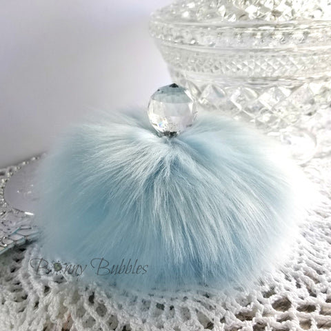 blue powder puff by bonny bubbles