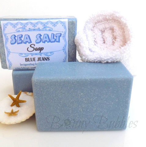 sea salt soap blue jeans