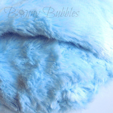 BLUE Powder Puff - big and cuddly soft - gift boxed - 5 inch - handmade by Bonny Bubbles