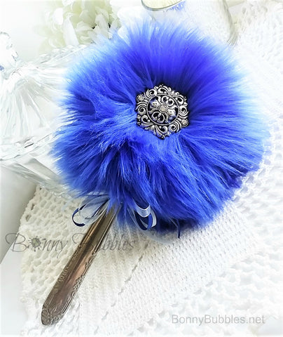 blue powder puff wand