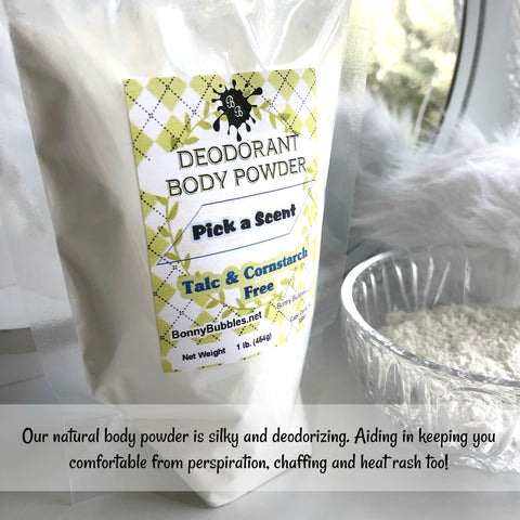 BULK Deodorant Body Powder - by the Pound - natural no cornstarch or talc - pick a scent