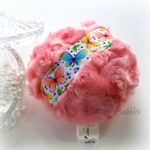 coral butterfly puff
