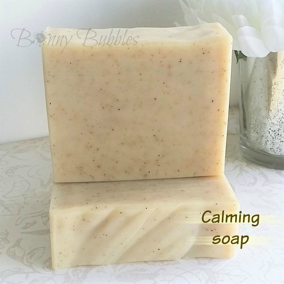 calming handmade essential oil soap