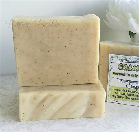 calming natural essential oil soap
