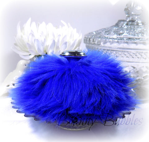 BLUE Body Powder Puff | Royal Blue | fluffy dusting pouf | gift boxed | handmade by Bonny Bubbles