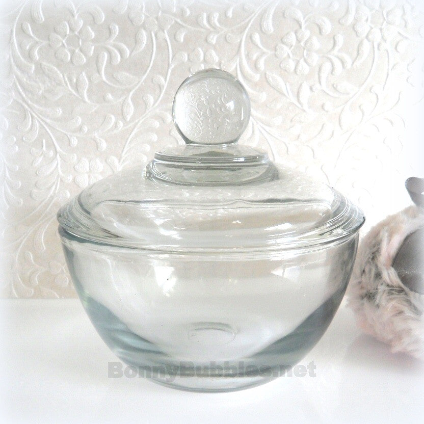 4 inch powder dish w/lid
