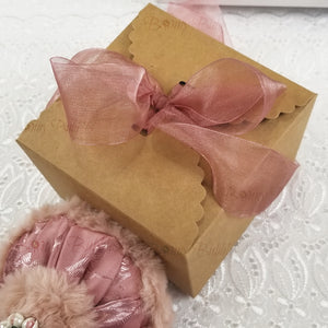 powder puff with gift box