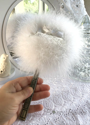 marabou feather powder wand