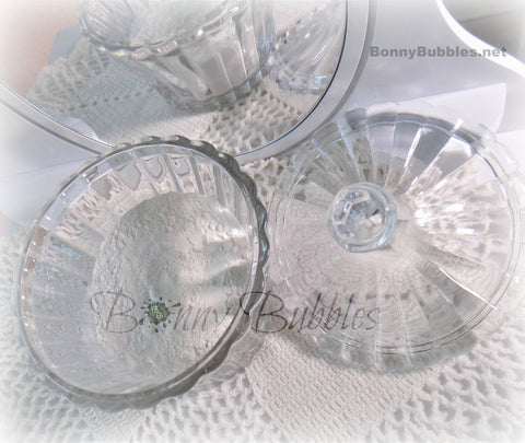 Glass powder dish bowl