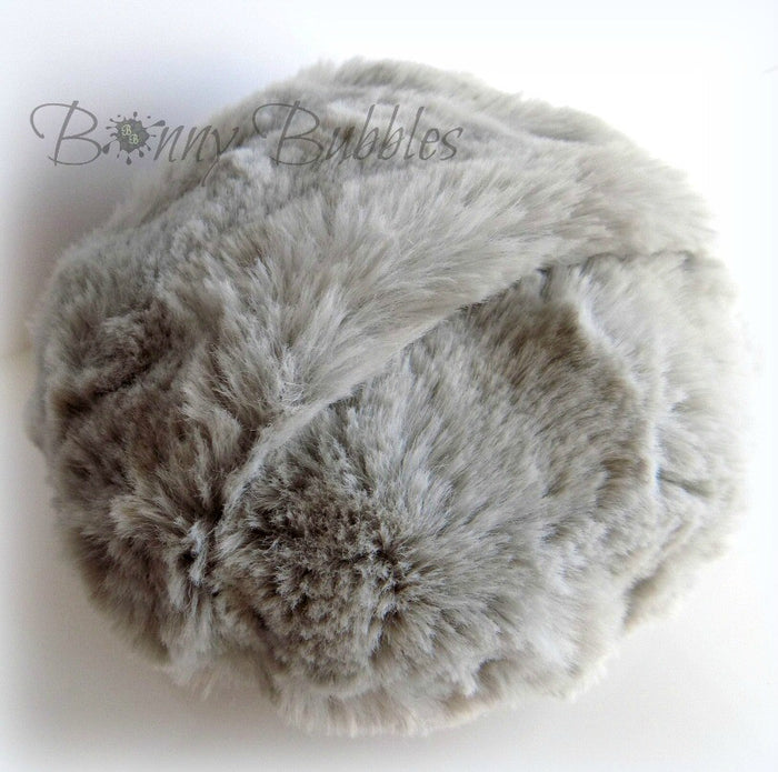 GRAY Powder Puff - 5 inch - cuddly soft powder duster - gift box option - pouf gris - by Bonny Bubbles
