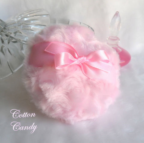 cotton candy pink powder puff