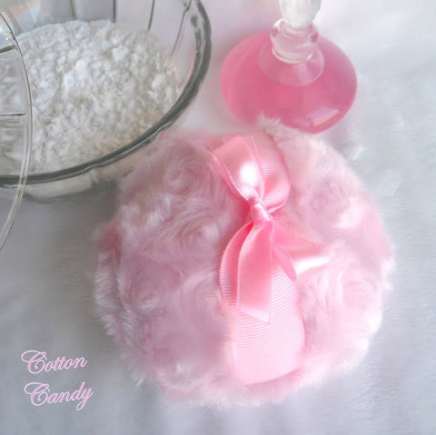 PINK Powder Puff - bath pouf - cotton candy pink - gift box option - handmade by Bonny Bubbles