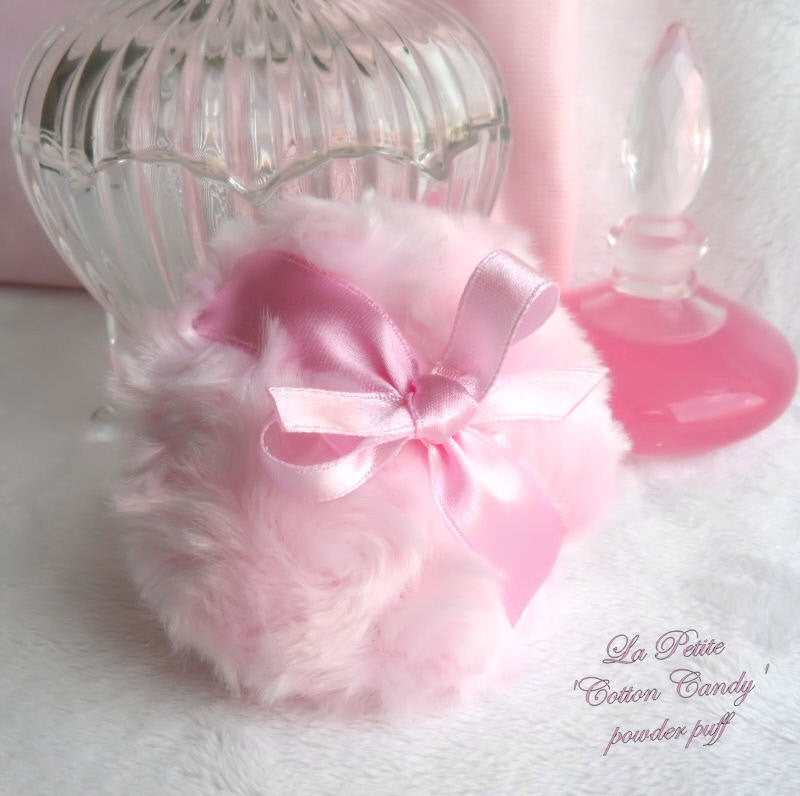 La Petite 'Cotton Candy' Powder Puff - pink miniature pouf - gift boxed by BonnyBubbles