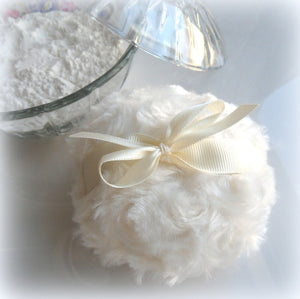 ivory powder puff by bonny bubbles
