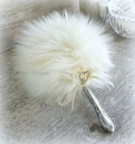 ivory powder puff wand
