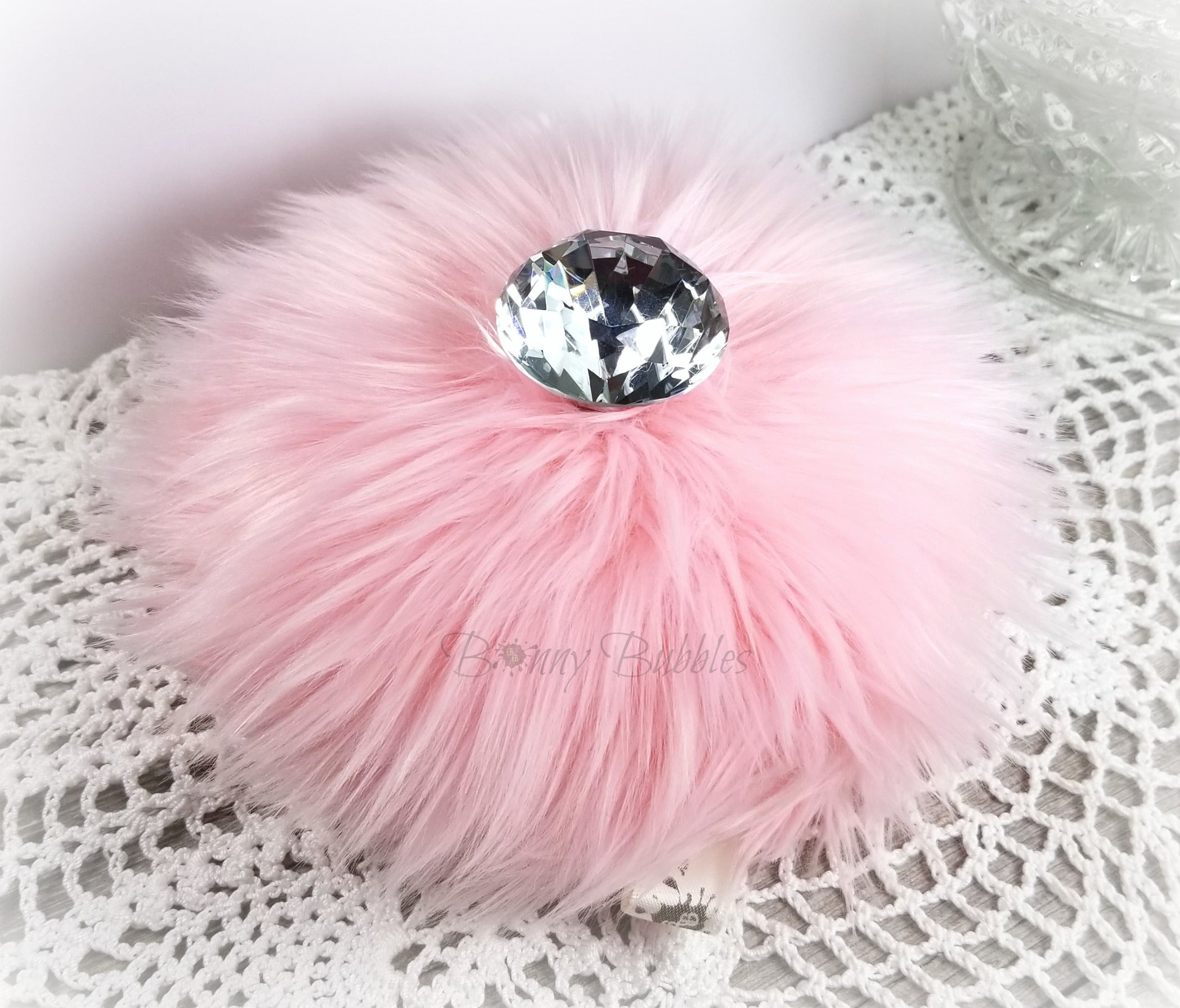 fluffy pink powder puff