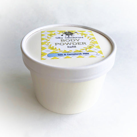 Body Powder refill - 5 oz - Pick a Scent - Talc and Cornstarch Free - Loose Powder - Eco Friendly Container - natural deodorant