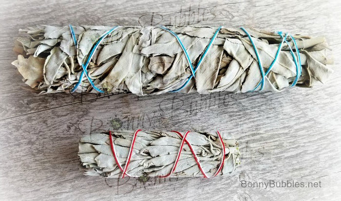 White Sage - natural smudge bundle - smudging for cleansing negative energy and sacred rituals