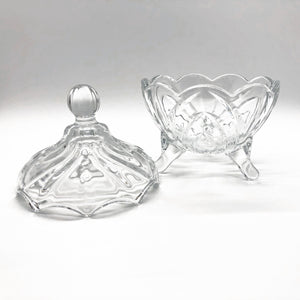 glass powder dish