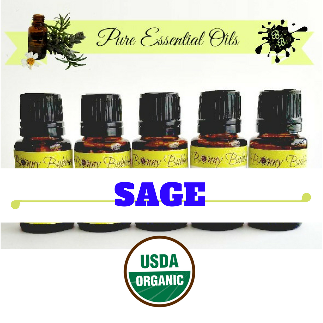 Sage organic essential oil salvia officinalis