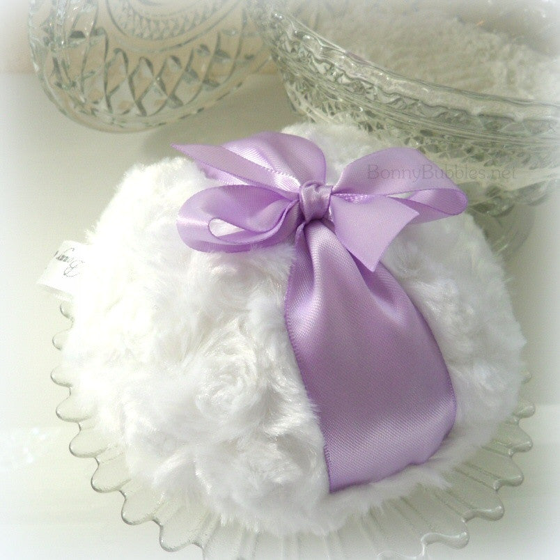 lavender powder puff