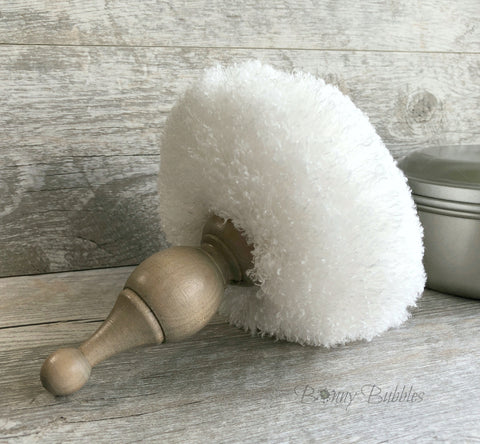big powder pouf with large handle