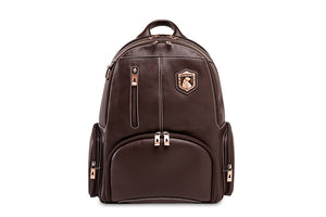 Genuine Leather Laptop Backpack NW072A-IC Chestnut