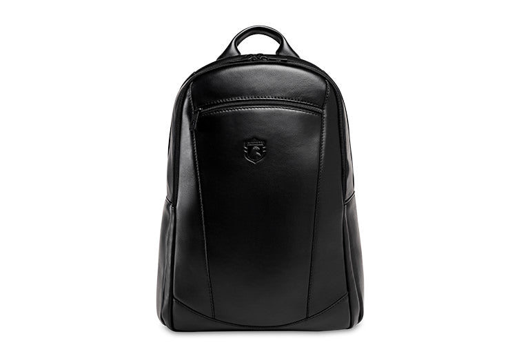 Genuine Leather Laptop Backpack NW083 Black Edition