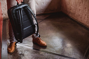Nômade Leather Laptop Backpack with Case NW089