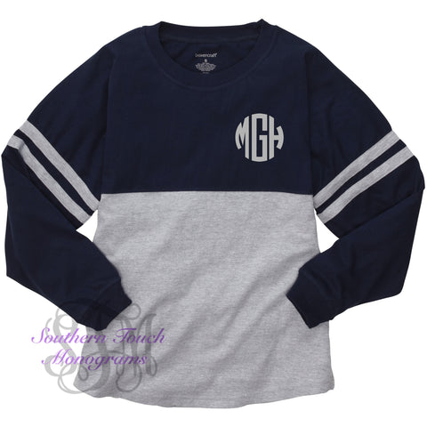 Monogrammed Colorblock Jersey