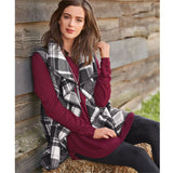 Plaid Blanket Vest