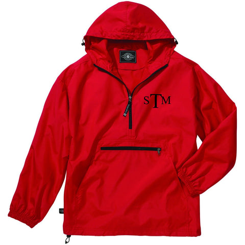 Monogrammed Youth Pack-N-Go Pullover Rain Jacket