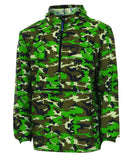 Monogrammed Camo Pack-N-Go Pullover Rain Jacket