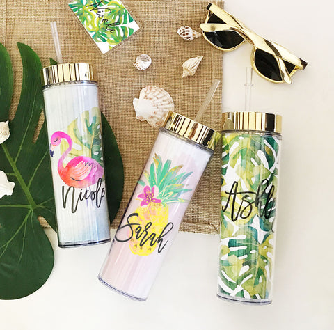 Personalized Tropical Tumbler