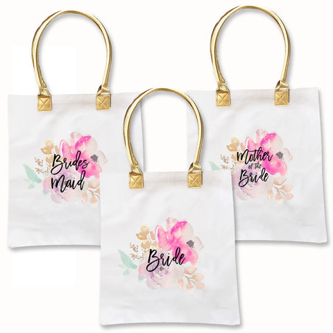 Bridal Party Water Color Tote Bag