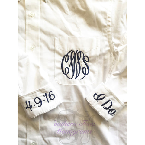 Monogrammed Oversize Bridal Oxford Shirt