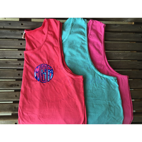 Monogrammed Lilly Pulitzer Applique Comfort Colors Tank Top