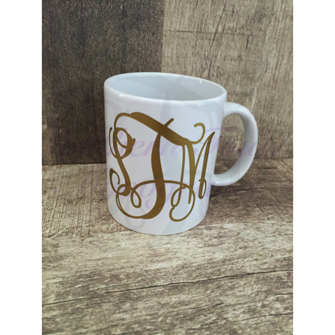 Monogrammed Ceramic Coffee Mug