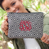 Monogrammed Black Diamond Wristlet