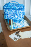 Monogrammed Blue Ivy Cosmetic Bag