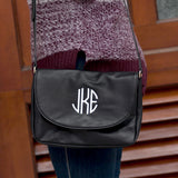 Monogrammed Black Anna Crossbody