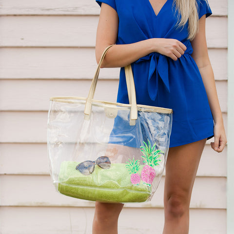 Pineapple Clear Tote Bag