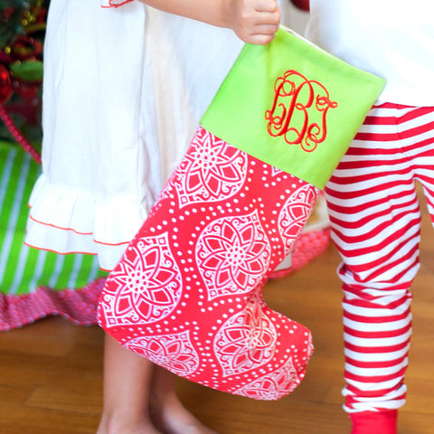 Monogrammed Noel Christmas Stocking