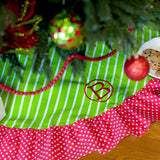 Monogrammed Merry and Bright Christmas Tree Skirt