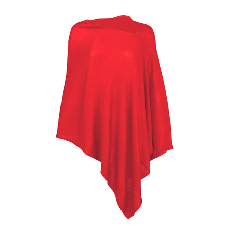 Monogrammed Red Poncho