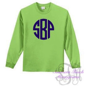 Monogrammed Youth Long Sleeve T-Shirt