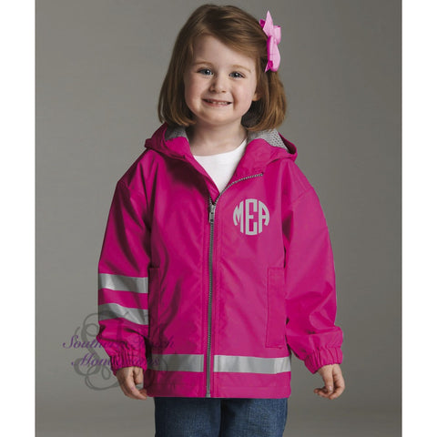 Monogrammed New Englander Toddler Rain Jacket