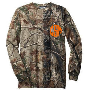 Monogrammed Long Sleeve Camo Shirt
